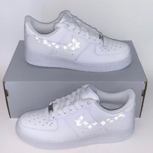 Custom Reflective LV Nike Air Force 1's